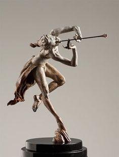 Trumpeter Draped, Atelier Bird Sculpture, Modern Sculpture, Dog Artwork, Sculptures For Sale, Art Sculptures, The Dancer, Balloon Dog, Small Art, Museum Collection