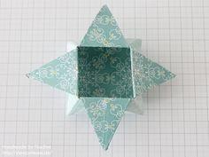 Stampin Up Anleitung Tutorial Origami Box Schachtel Verpackung Star Box 062