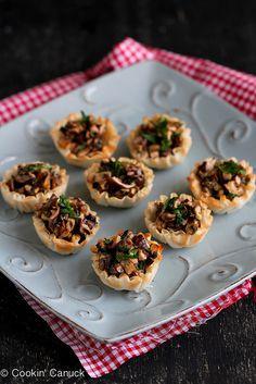 Mini Mushroom & Gorgonzola Bites
