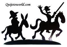 Siluetas Metálicas de la Figura de Don Quijote de la Mancha. Pensadas párr Una Decoración original, artesanía Diseños Exclusivos con Única. Arte para decorar, Wall arte PUEDES ver Nuestro catalogo en www.quijoteworld.com
