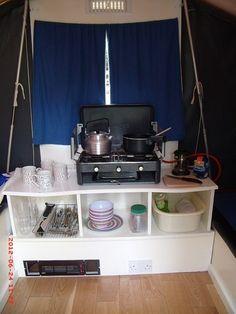 Dandy 4-berth folding camper / trailer tent, repainted and refurnished   eBay