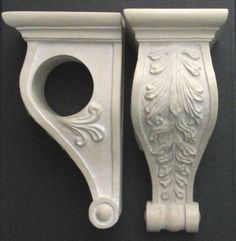 Window scarf holders or rod