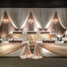 Wedding Draping, Wedding Reception Backdrop, Wedding Stage Decorations, Wedding Centerpieces, Tall Centerpiece, Wedding Flowers, Head Table Wedding, Bridal Table, Decoration Evenementielle
