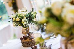 winter wedding centrepiece