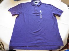 Mens Tommy Hilfiger Polo shirt XL xlarge solid NEW 7848710 Gem Purple 510 #TommyHilfiger #polo