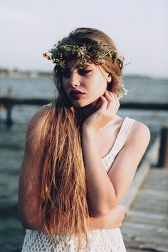 Flowers#hair#beautifulgirls#:))