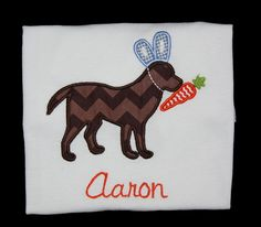 Items similar to Boys Easter Dog and Carrot T-shirt, Girls Easter Dog and Carrot T-shirt, Easter Bunny Dog T-shirt on Etsy Easter T Shirts, Shirts For Girls, Easter Bunny, Carrot, Trending Outfits, Dogs, Baby, Carrots, Pet Dogs