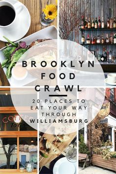 """Food is one of the universal keys to understanding any culture, so it's time to dive """"fork first"""" into the trendy Brooklyn neighborhood of Williamsburg. Come hungry and spend the day eating and drinking your way around Williamsburg with this food crawl! Brooklyn Food, Brooklyn Nyc, Brooklyn Bridge, Brooklyn Style, Usa Roadtrip, Travel Usa, Times Square, Brooklyn Neighborhoods, A New York Minute"""