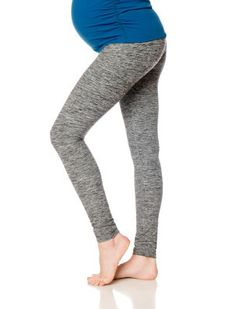 Beyond the Bump By Beyond Yoga A Pea in the Pod Fold Over Belly Maternity Leggings