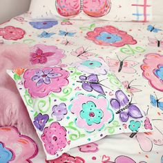 Butterfly Land bedlinen series - by Priceless Kids.  www.pricelesskids.co.nz | www.pricelesskids.com.au