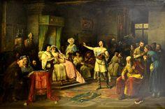 Václav Brožík Singer of balads Academic Art, Siena, 19th Century, Medieval, Abstract Art, Romantic, Fine Art, History, Czech Republic