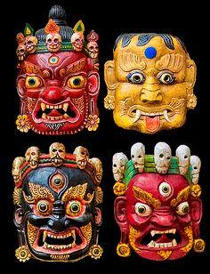 Masks  Nepal, Kathmandu by Ricardo Bevilaqua   ik