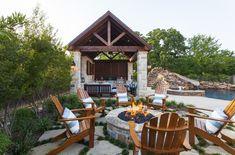 Outdoor Cabana - a private sanctuary - Rustic - Patio - dallas - by Weatherwell Elite - Aluminum Shutters Pergola Designs, Patio Design, Exterior Design, Outdoor Shutters, Diy Shutters, Exterior Shutters, Outdoor Cabana, Diy Pergola, Kyoto
