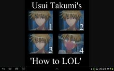 Usui takumi is a new lol