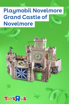 Let down the drawbridge of the Playmobil Novelmore Grand Castle of Novelmore modular playset and explore rooms with locking doors, a catapult, functioning cannons, trap doors, revolving crossbows, breakaway walls and so much more!