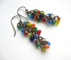 Cascade Earrings Matte Multicoloured £8.00