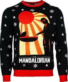 Chic Official Star Wars The Mandalorian Christmas Jumper / Ugly Sweater mens ugly christmas sweater from top store Ugly Sweater, Men Sweater, Hanukkah Sweater, Best Ugly Christmas Sweater, Tie Fighter, Christmas Jumpers, Christmas Knitting, Mandalorian, Being Ugly