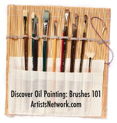 Great advice for beginners! Oil painting brushes AND how to clean them, by artist Julie Gilbert Pollard. #oil #painting #art