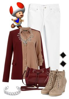 """""""Toad, Mario & Co."""" by jawind ❤ liked on Polyvore featuring mode, MANGO, Theory, M&Co, Oscar de la Renta, Yvel et Gemma Redux"""