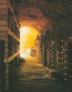 Darren Baker  - Wine Cellar II -  Pastel On Paper – 10 x 8 inches £6,200