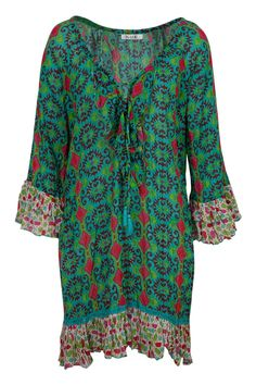 Naudic Kailani Kelim Print Dress - Womens Knee Length Dresses - For everything but the girl