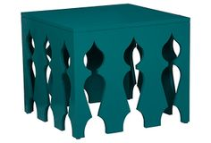Living room teal... Katarina Table, Teal on OneKingsLane.com