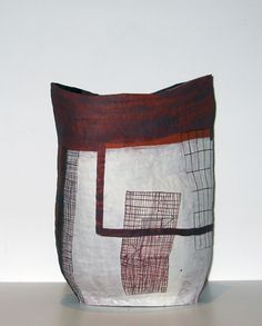 Helen Fuller | Large basket form, 2011.  Terracotta with oxide and white slip