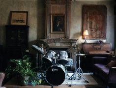 Fireplace drumset