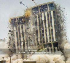 Implosion of Genesee Towers, Flint MI.   12-22-2013