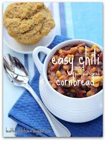 Healthy Girl's Kitchen: Easy Vegan Chili and Pumpkin Spiced Cornbread Muffins