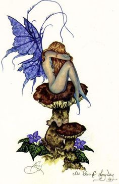 Amy Brown Been a Long Day Fairy Postcard
