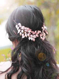 FXmimior Bridal Rose Gold Leaf Headband Crown Tiara Headpiece Headband Bridal Wedding Hair Accessories for Women and Girl >>> Want additional info? Click on the image. #hair