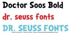 Seuss fonts 01 Doctor Soos Bold txt