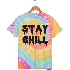 Stay Chill Unicorn Pastel Tie Dye T Shirt