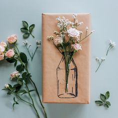 Gift Wrapping Techniques, Gift Wraping, Diy Gifts, Handmade Gifts, Diy Gift Box, Creative Gift Wrapping, Simple Gifts, Inspirational Gifts, Floral