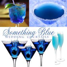 TARDIS blue wedding cocktails.