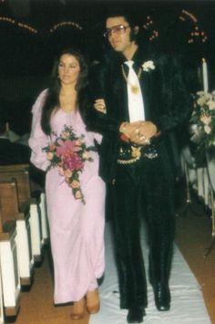 Elvis, Lisa and Priscilla Presley at Sonny West's wedding, December 28, 1970.