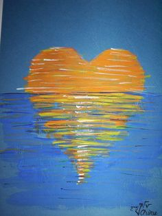 bilder Malen XX For a time, she didn't understand why waking to a new day would be a bles. Art Beauté, Heart Painting, Valentines Art, Paint And Sip, Pictures To Paint, Art Plastique, Painting Inspiration, Art Lessons, Painted Rocks