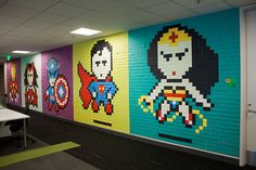 This office worker used 8,024 Post-It notes to turn his drab office into a superhero paradise