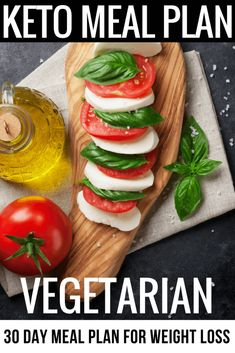 Vegetarian Keto Diet 30 Day Meal Plan & Menu for Weight Loss This vegetarian keto meal plan is perfect if you're new to the ketogenic diet or you're looking for delicious keto recipes to add to your recipe collection! With 90 easy breakfast, lunch, and dinner recipes you'll find great tasting low carb vegetarian keto recipes for every meal! You'll love the zucchini noodles, easy crockpot recipes & dairy-free options! #keto #ketogenic #ketodiet #ketorecipes #ketogenicdiet #mealplan #lowcarb