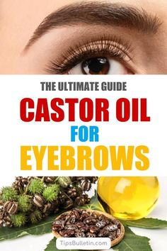 Discover how to use castor oil for eyebrows for new growth to create thicker, darker, brows and longer lashes. Using natural remedies like castor oil at night can get you the look you desire and improve the overall health of your eyebrows and lashes. Castor Oil Eyebrows, Castor Oil For Face, Winter Beauty Tips, Beauty Tips For Face, Dry Skin Remedies, Natural Remedies, Dark Eyebrows, Shape Eyebrows, Vaseline Beauty Tips