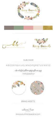 Autumn Lane Paperie - Business Branding - Brand Identity Idea - Brand Board - Brandboard - Graphic Design - Shabby Chic Rustic Design - Branding Package - Branding Ideas - Logo Ideas - Logo Design - Graphic Design - Creative Professional - Photographer's Branding