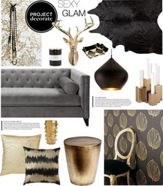 """""""Project Decorate: Sexy Glam With Honey We're Home"""" by summersun27 on Polyvore"""