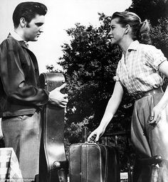 """Elvis Presley and Dolores Hart, """"Loving You"""""""