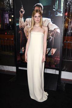 Elle Fanning In Oscar de la Renta.