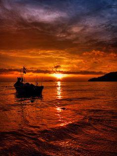 Sunset ~ Pulau Pinang, Malaysia  by ishafizan, via Flickr