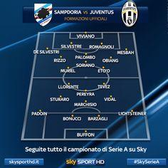 Formazioni ufficiali di #SampdoriaJuventus