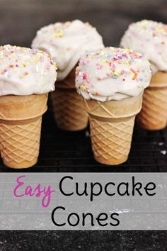 If your kids like to cook, then you need some easy baking recipes for kids! This cupcake cone recipe fits the bill and is as fun to make as it is to eat.