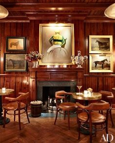 The Polo Bar, NYC - 1 E 55 St. The restaurant and bar are inspired by classic New York establishments and Ralph Lauren's love of gathering around the table with family and friends. See more at http://rlauren.co/ThePoloBar
