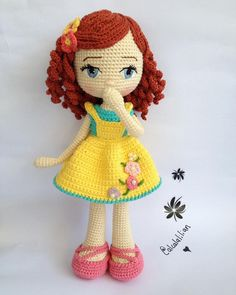 crochet toys and dolls Knitted Dolls Free, Doll Amigurumi Free Pattern, Crochet Dolls Free Patterns, Crochet Doll Pattern, Amigurumi Doll, Doll Patterns, Crochet Crafts, Crochet Yarn, Crochet Projects